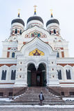Orthodox cathedral in the Tallinn Stock Images