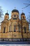 Orthodox cathedral in Warsaw. Warsaw, Poland - February 6, 2005: Polish Orthodox Metropolitan Cathedral of the Holy and Equal to the Apostles Mary Magdalene in stock photos