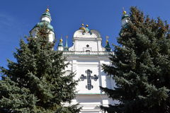 Orthodox Cathedral of the XVII century. Facade of the Orthodox Cathedral of the XVII century Royalty Free Stock Images