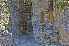 Orthodox cave church Stock Photos