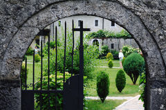 Orthodox cemetery with crosses Royalty Free Stock Photography