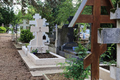 Orthodox cemetery in France Stock Image
