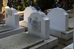 Orthodox cemetery in France Stock Photos