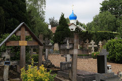Orthodox cemetery in France Royalty Free Stock Photography