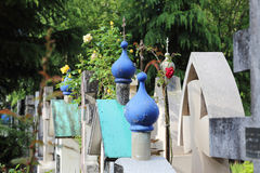 Orthodox cemetery in France Royalty Free Stock Image