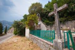 Orthodox cemetery in Perast, Montenegro Stock Image