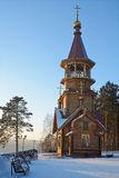 Orthodox chapel on the banks of the Siberian river Tom Royalty Free Stock Photography