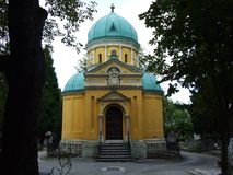 Orthodox chapel on the city cemetery royalty free stock photography