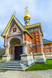 Orthodox chapel in the park Royalty Free Stock Photo