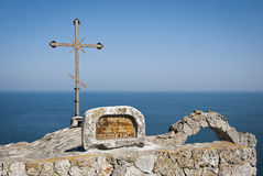 Orthodox chapel at the sea detail royalty free stock images