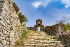 Orthodox chapel in the Venetian castle of Agia Maura - Greek island of Lefkada Royalty Free Stock Image