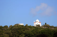 Orthodox chapel on a wooded hillside Royalty Free Stock Photos