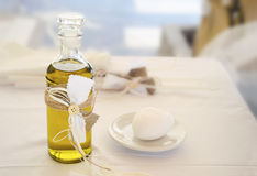 Orthodox Christening oil royalty free stock image