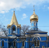 Orthodox christian church. The orthodox church with the chapel Royalty Free Stock Image