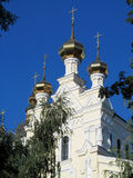 Orthodox christian church with  golden dome Stock Photo