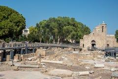 Orthodox Christian Church Of Ayia Kyriaki At Paphos Town In Cyprus Stock Photo