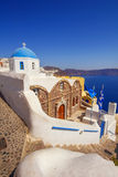 Orthodox christian church in Oia village, Santorini Royalty Free Stock Image