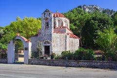 Orthodox Christian Church at Rhodes Island, Greece. Very Old Small Orthodox Christian Church Saint Nicholas at Rhodes Island, Greece stock photos