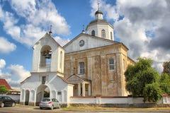 Orthodox Christian Church van de 18de eeuw, Rakov, Wit-Rusland Stock Foto