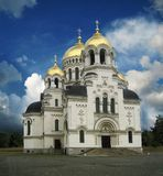 Orthodox Christian Church With Golden Domes Royalty Free Stock Photography