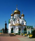 Orthodox Christian Church With Golden Domes Stock Images