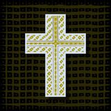 Orthodox Christian cross-background Stock Image