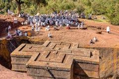 Free Orthodox Christian Ethiopian Believers, Lalibela Ethiopia Stock Photos - 161934983