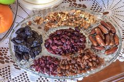 Orthodox Christian food on the table for Christmas eve. Close up Royalty Free Stock Photos