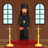 Orthodox christian priest or bishop with beard Stock Image