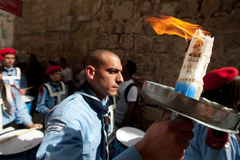Orthodox Christians celebrate Easter Holy Fire Stock Images
