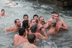 Orthodox Christians celebrate the epiphany Stock Photos