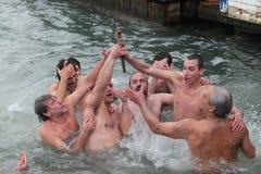 Orthodox Christians celebrate the epiphany Royalty Free Stock Image