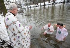 Orthodox Christians celebrate Epithany Stock Images