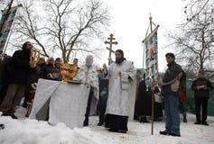 Orthodox Christians celebrate Epithany Royalty Free Stock Image