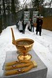 Orthodox Christians celebrate Epithany. By the river Svratka on January 19, 2010 in Brno, Czech Rep Stock Photo
