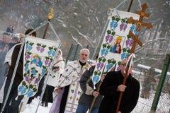 Orthodox Christians celebrate Epithany Royalty Free Stock Images