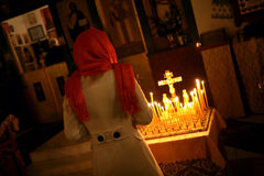 Orthodox christmas mass Stock Photography