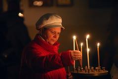 Orthodox christmas mass Royalty Free Stock Image