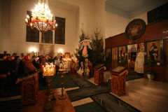 Orthodox christmas mass Royalty Free Stock Image