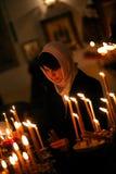 Orthodox christmas mass Stock Photo