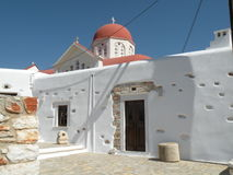 Orthodox church. A orthodox church in the greek island (Naxos Stock Photo