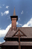 Orthodox church. Wooden Orthodox church old style from Maramures Stock Photography