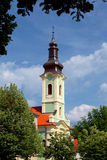 Orthodox church. Bell tower of Orthodox church in Karlovac, Croatia, Europe Stock Photo