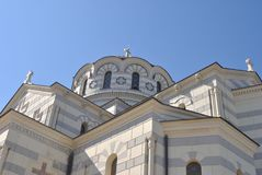 Orthodox Church. One of the largest Orthodox church in Kherson Stock Image