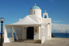 Orthodox church. Near beach at Protaras, Cyprus Royalty Free Stock Photo