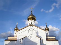 Orthodox Church. An Orthodox church. The Cathedral of the Assumption of the Virgin in the town of Kogalym, Western Siberia, Russia Stock Photography