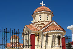 Orthodox church. In spili place in crte island Stock Image