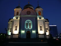 Orthodox church. In the night Royalty Free Stock Image