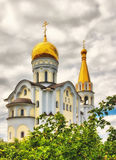 Orthodox church. The Orthodox church in Samara in the summer, surrounded by Royalty Free Stock Images