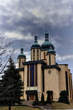 Orthodox Church. With crosses on top of the domes Royalty Free Stock Photo